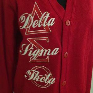 Sweaters - Delta Sigma Theta Sorority button down sweater.